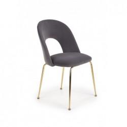 K385 krzesło popielaty / złoty