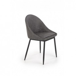 K406 krzesło ciemny popielaty