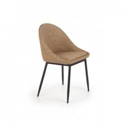 K406 krzesło jasny brązowy