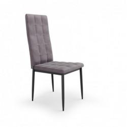 K415 krzesło popielaty velvet