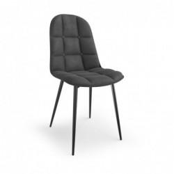 K417 krzesło popielaty velvet