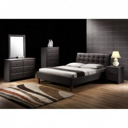 SAMARA 160 łóżko czarny