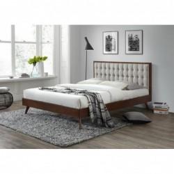 SOLOMO łóżko beżowy / orzech