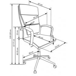 AURELIUS fotel gabinetowy biały
