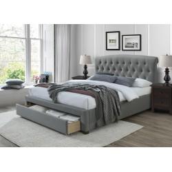 AVANTI łóżko 160 cm z szufladami popiel