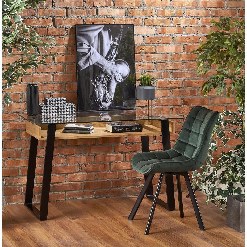 B36 biurko dąb złoty / czarny
