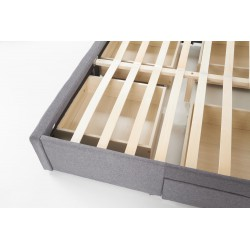 BETINA łożko z szufladami popielate
