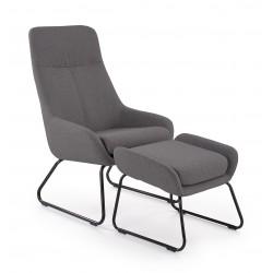 BOLERO fotel wypoczynkowy popielaty