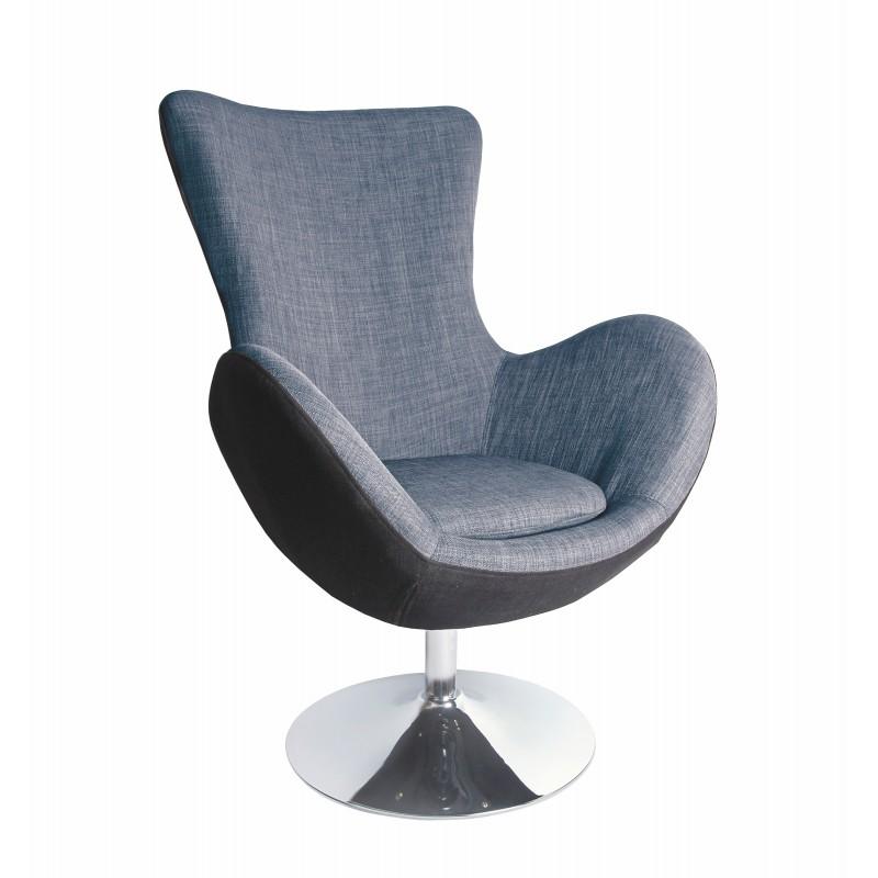 BUTTERFLY fotel wypoczynkowy czarno - popielaty