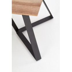 CALGARY stół, blat - orzech rustykalny, nogi - czarny