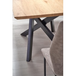 CAPITAL stół dąb złoty / czarny