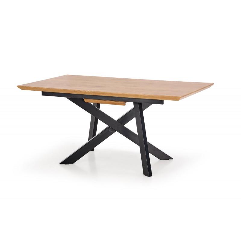 Stół CAPITAL dąb złoty/czarny Halmar