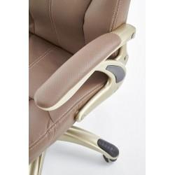 CARLOS fotel gabinetowy jasny brąz