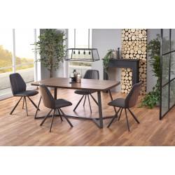 CARUZZO stół, nogi - antracytowy, blat - ciemny orzech