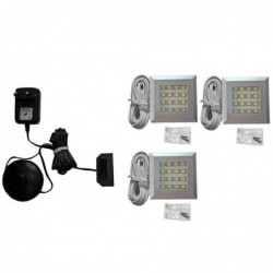 Oświetlenie LED 3-pkt mocowane do wieńców lub przegród poziomych białe  OŚWIETLENIE IZLED09-03-WW01 Forte