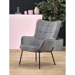 CASTEL fotel wypoczynkowy czarny / jasny popiel