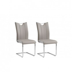 Krzesło ONEGA Metal / Ekoskóra beż Krzesła  KR0112-MET-YBS07 Forte