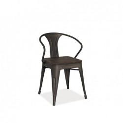 Krzesło Alva Orzech/Grafit
