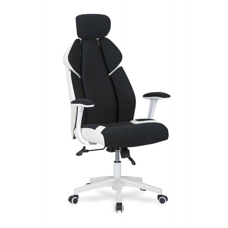 CHRONO fotel gabinetowy biało-czarny