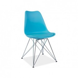Krzesło Tim Chrom/Niebieski