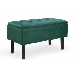 CLEO ławka z pojemnikiem ciemny zielony