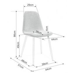 Krzesło Dual Czarny Stelaż/...