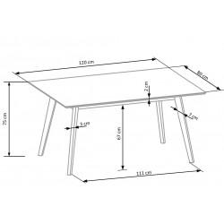 CORDOBA stół + 4 krzesła