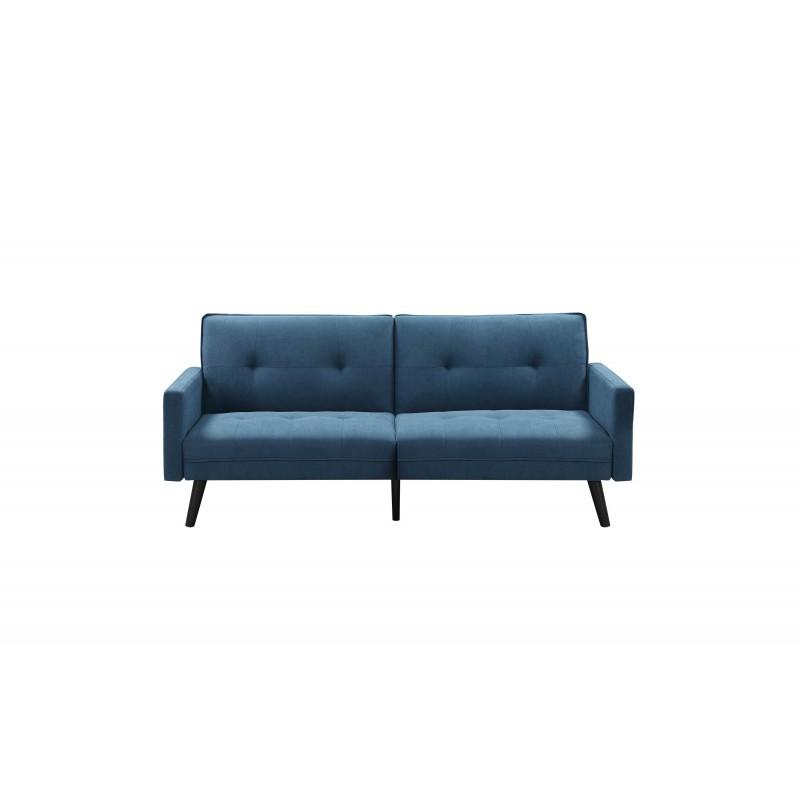 CORNER sofa rozkładana z funkcją narożnika niebieska