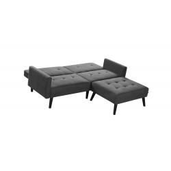 CORNER sofa rozkładana z funkcją narożnika popiel