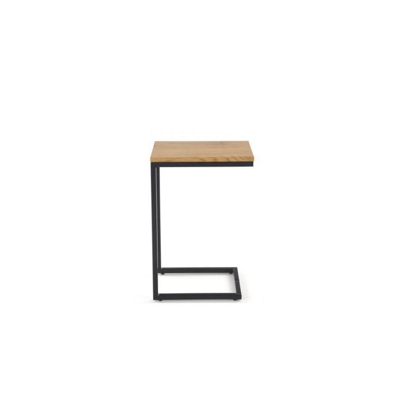 NISA ława stelaż - czarny, blat - dąb złoty