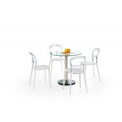Stół CYRYL bezbarwny/chrom Halmar