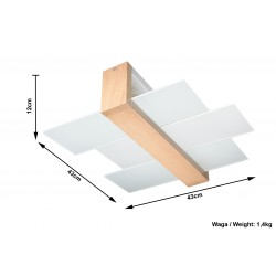 Plafon FENIKS 2 Naturalne Drewno