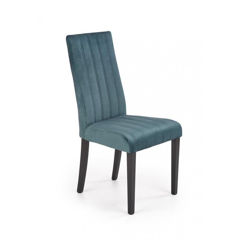 DIEGO 2 krzesło czarny / tap. velvet pikowany Pasy - MONOLITH 37 (ciemny zielony)