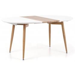 EDWARD stół rozkładany biały / dąb san remo Halmar