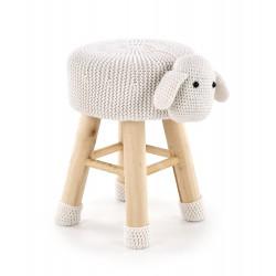 DOLLY 2 pufa owieczka biała