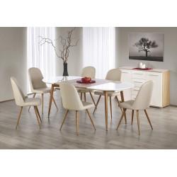 EDWARD stół rozkładany dąb miodowy / biały; nogi: dąb miodowy