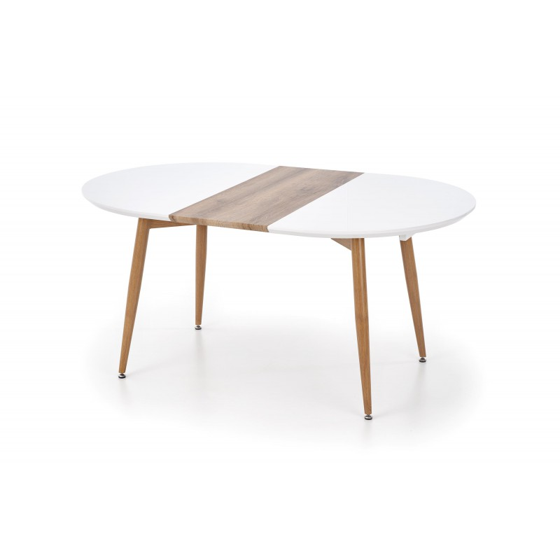 Stół rozkładany EDWARD biały/dąb miodowy Halmar