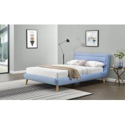ELANDA 140 cm łóżko niebieskie