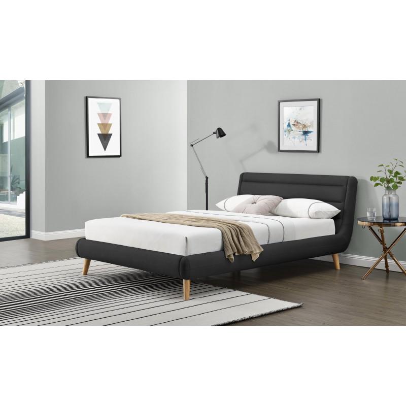 ELANDA 160 cm łóżko ciemny popiel