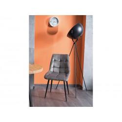 Krzesło Chic Velvet komplet 4 szt. czarny stelaż Signal