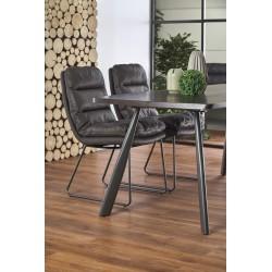 FIRMINO stół, nogi - antracytowy, blat - ciemny orzech