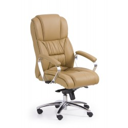 FOSTER fotel gabinetowy jasny brąz - skóra