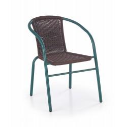 GRAND 2 krzesło ciemnozielony / ciemny brąz