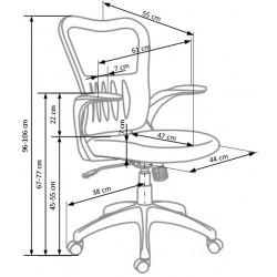 GRIFFIN fotel pracowniczy popielaty
