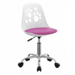Krzesło obrotowe różowy N-03