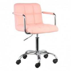 Fotel biurowy jasny róż N-13