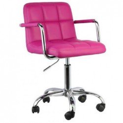 Fotel biurowy róż N-13