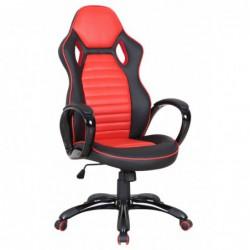 Fotel biurowy czerwony...