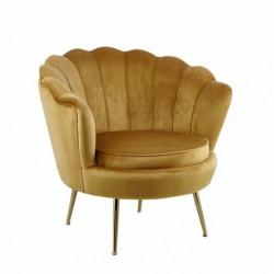 Fotel velvet curry LC-032-1