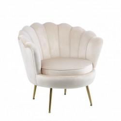 Fotel velvet beżowy LC-032-1